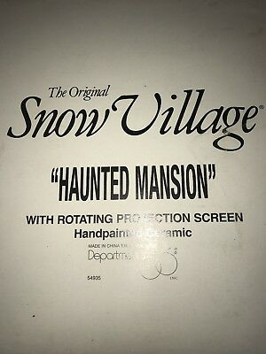 Department 56 Snow Village Halloween Haunted Mansion House 54935 Projection