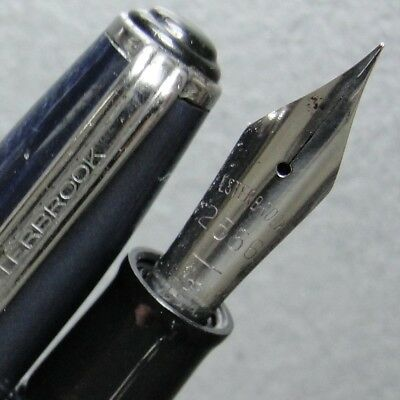 CT Mackerel Sky Blue ESTERBROOK SJ Lever Fountain Pen ReNew 2556 F Nib New Sac