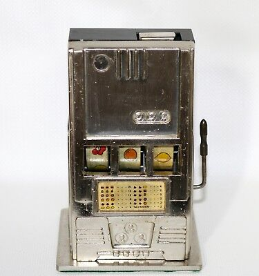 Vintage Slot Machine Table Top Cigarette Lighter In Working Condition