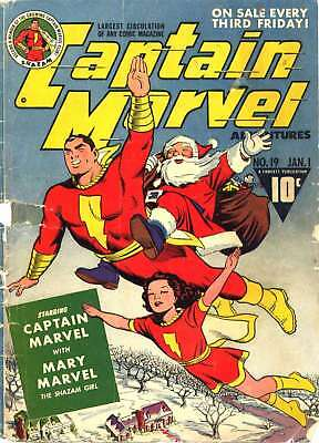 Captain Marvel Adventures #19 (1943) Photocopy Comic Book - Shazam Fawcett Comic