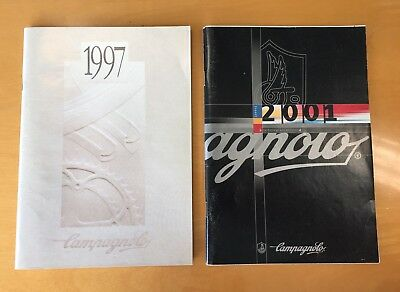 Campagnolo Vintage Catalogues 1997 & 2001 Full Range Catalogs In VGC