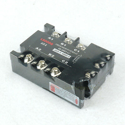 New 3-Phase Solid State Relay DC AC SSR 4-32VDC/40-480VAC 60A Motor Control