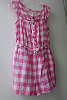 Cherokee girls pink gingham shorts romper size 6x
