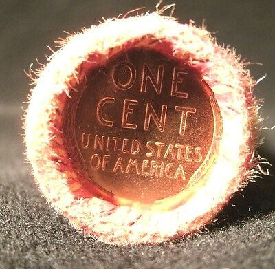 ONE UNSEARCHED - Lincoln Wheat Penny Roll Capped with BU Tails Both Ends!!! U397