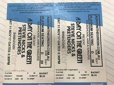 Stevie Nicks / Pretenders tickets Bimbadgen