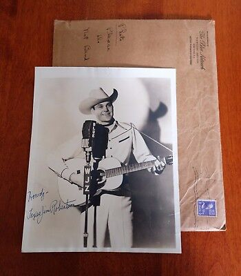 Vintage Signed 8x10 Photograph Country Western Singer Cowby Texas Jim Robertson