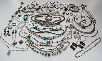 1400 Grams Sterling silver jewelry no reserve not scrap turquoise southwest