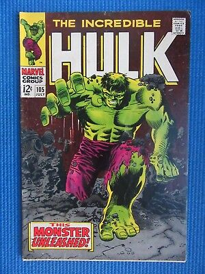Incredible Hulk # 105 - (Fine) - 1St App Of The Missing Link - Reed Richards
