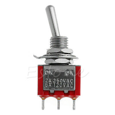1pc SPDT Switch 3 Feet 3 Pin 2A/5A On/On 3 Pins Miniature Toggle Switch