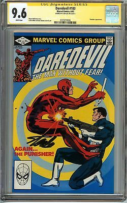 Daredevil #183 CGC 9.6 NM+ SIGNED STAN LEE PUNISHER Marvel Comics NETFLIX