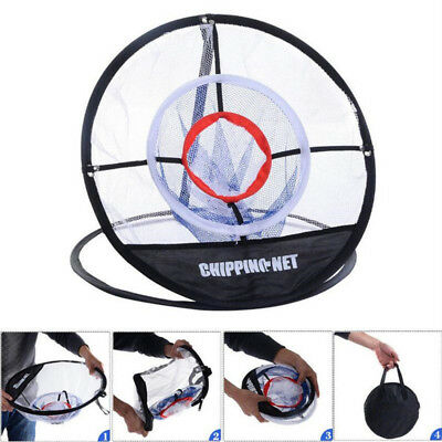 "20"" Portable Golf Training Chipping Net Hitting Aid Practice In/Outdoor Bag Mesh"