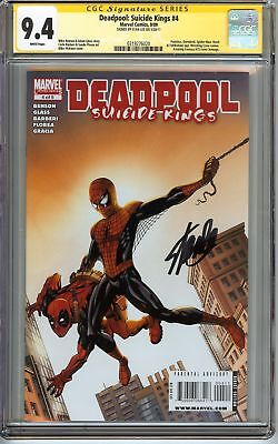 Deadpool: Suicide Kings #4 CGC 9.4 NM SIGNED STAN LEE SPIDER-MAN Marvel Comics