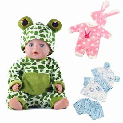 18inch Zapf Born Baby Cute Jumpsuit With Hat Sleeping Doll Clothes Toy Pajamas
