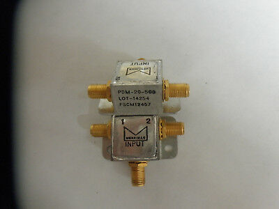 Merrimac microwave in phase power dividers, 2 way, 5 to 1000MHz