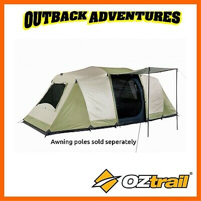 Oztrail Seascape 10P Dome Tent Family Camping (3 Room) 10 Person New  Model