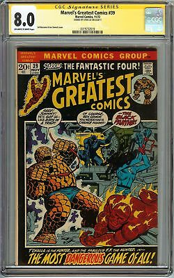 Marvel's Greatest Comics #39 CGC 8.0 VF SIGNED STAN LEE FANTASTIC FOUR T'CHALLA