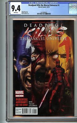 Deadpool Kills the Marvel Universe #1 CGC 9.4 NM SPIDER-MAN IRON MAN HULK Comics