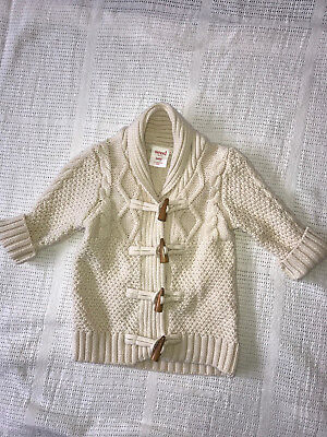 Seed gorgeous cream baby duffle cardigan size 000 baby