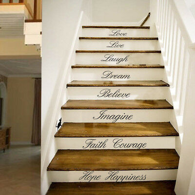 New Stairs Sticker Wall Quote Art Removable Stickers DIY Vinyl Decals Home Decor