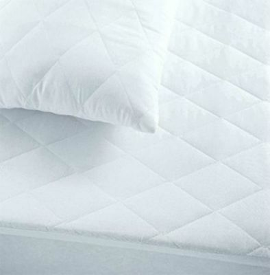 MATTRESS Protector QUILT MICROFIBER Fitted Sheet Bed Cover / Pillow Pair