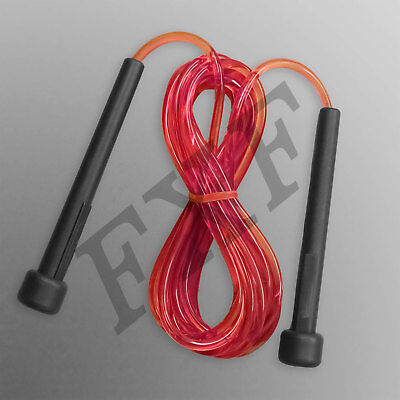 Skipping Rope Nylon Adjustable Jump Boxing Fitness Speed Rope Training 3m Red