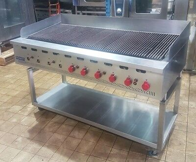 Bonnet 10 Burner Gas Chargrill On Stand