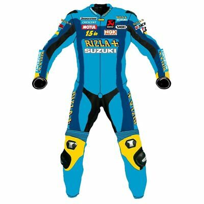 Suzuki Motorbike Motorcycle Leather Racing Suit1&2 Piece Custom Made