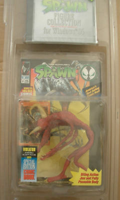 1 ACTION FIGURE McFARLANE 90 SPAWN-VIOLATOR ROT SPECIAL VERSION RED CD ROM,COMIC