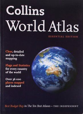Collins World Atlas: Essential Edition Paperback Book The Cheap Fast Free Post