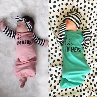 Newborn Infant Baby Girl Outfits Sleep Clothes Sleepsacks Sleeping Bag Sleepwear