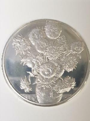 100 Greatest Masterpieces - 2.08oz Sterling Silver Proof - Sunflowers