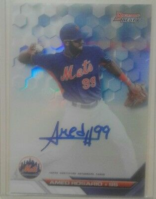 2016 bowman best refractor auto card of Amed Rosario, mets rookie
