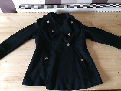 M&S maternity Gorgeous Black Coat 14