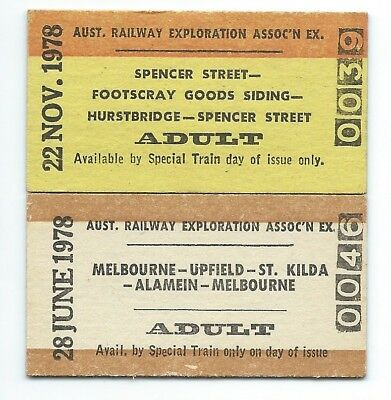 1978 Tickets MELB Suburban and Industrial Sdgs inc St Kilda & Footscray Goods