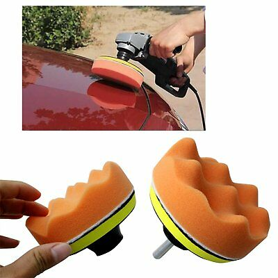"4"" Gross Polishing Buffing Pad Kit Tool Car Polisher Buffer with Drill Adapter"