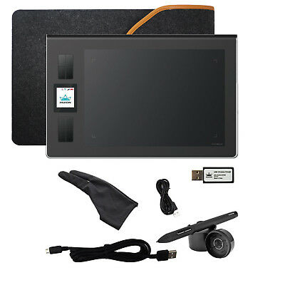 Huion DWH69 Wireless TFT Art Drawing Graphic Tablet 8 Hot Key+Pen+Glove+Bag Gift