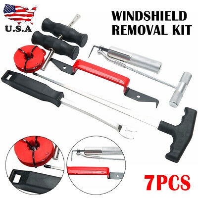 Professional Windshield Removal Automotive Wind Glass Remover Tool Kit 7pc