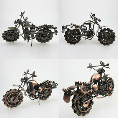Creative Motorcycle Model Metal Motor Toy Craft Art Home Desk Supplies