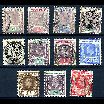 LEEWARD ISLANDS Selection. 11 Values. Unchecked. Condition Mixed. (BH089)