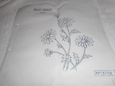 Vintage Embroidery Iron on Transfer - Briggs No. 13798 - Flowers / Daisy