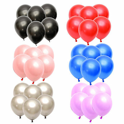 """12"""" METALLIC/Pearlised High Quality LATEX BALLOONS Decoration/Birthday/Party Bal"""
