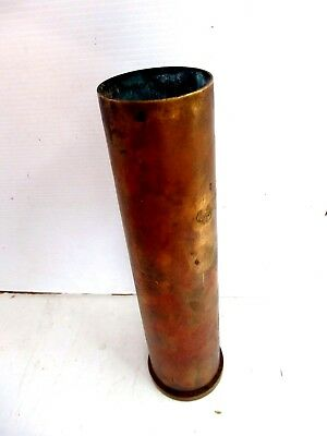 Vintage  Army 40Mm  Artillery Brass  Shell  Casing  Mk2  Militaria  Collectable
