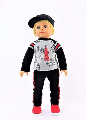 """Sports Pajama Pant Set Fits 18/"""" American Boy or Girl Doll Clothes"""