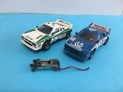 Lote 2 Lancia Rally 037 Seven Up 7Up Pioneer Scalextric Exin Ref 4073 4074