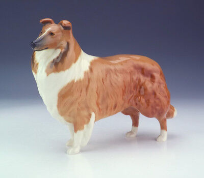 Beswick Pottery - Hand Painted Rough Collie Dog Figure - Very Nice!