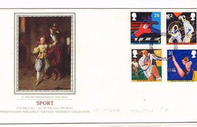 1991 Sport - Sotheby's Pps Silk Fdc From Collection 8C/1