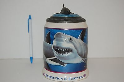 Great White Shark Beer Stein Anheuser-Busch & Sea World numbered collectable