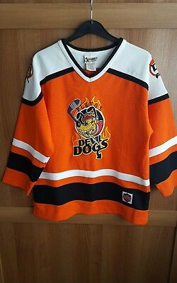 orange walt disney top pluto k9 devil dogs ice hockey xl extra large 14/16