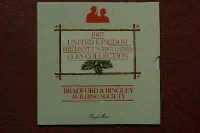 RARE 1987 Brilliant United Kingdom Uncirculated Royal Mint Coin Collection