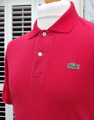Lacoste Raspberry Pique Cotton Polo - L/XL - Size 5 - Mod Ska Scooter Casuals